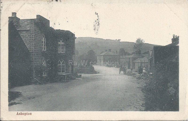 Ashopton village street scene