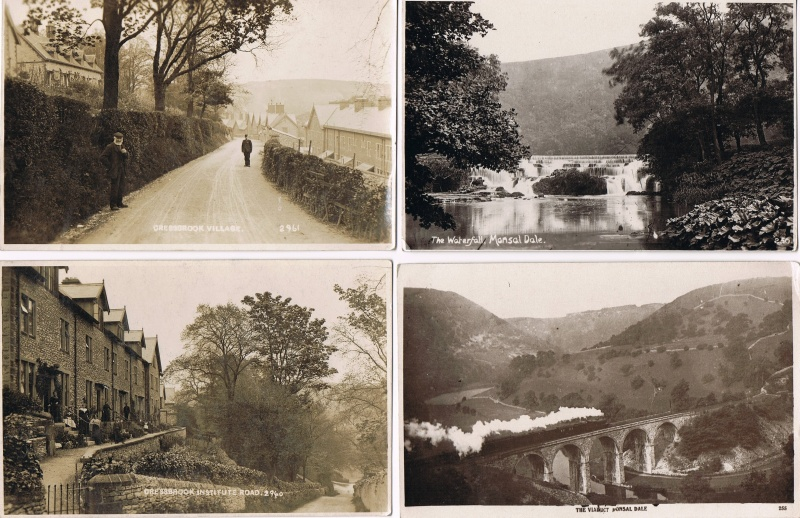 old derbyshire postcards