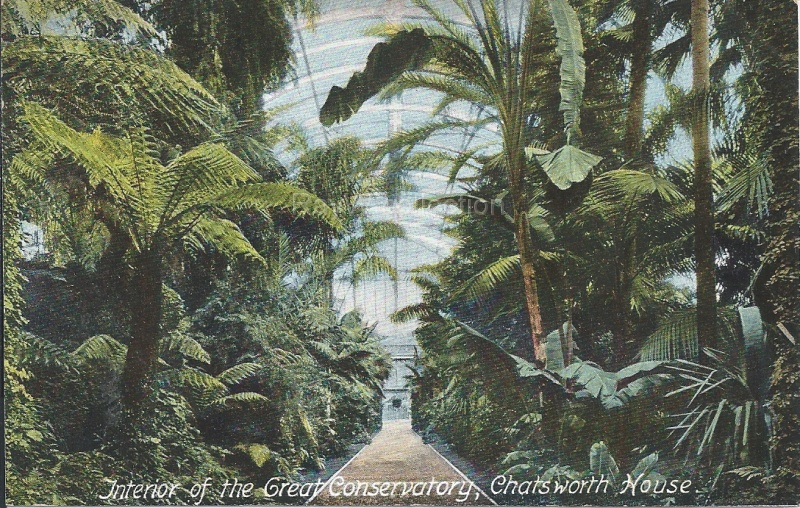 Chatsworth - Interior of Great Conservatory